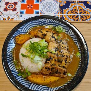 Roast Pumpkin and Sesame Tofu Katsu Curry