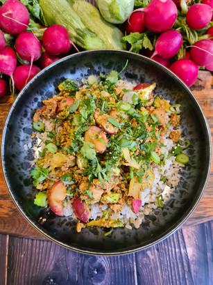 Aromatic Raddish and Broccoli Rice