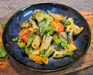 Broccoli and Spinach Pasta Bake