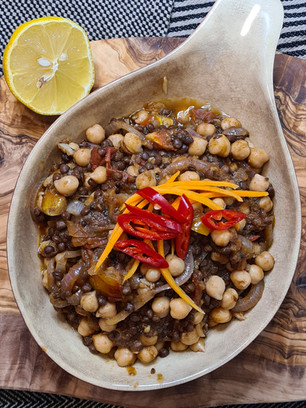 Black Beluga Lentil and Chickpea Curry