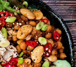 """Spicy """"3G"""" Chickpeas and Beans"""
