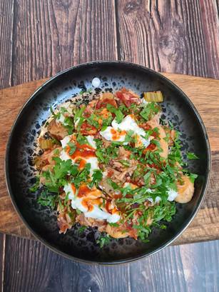 Sausage, Eryngii & Seitan Jambalaya