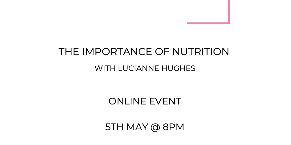 Importance of Nutrition with Lucianne Hughes