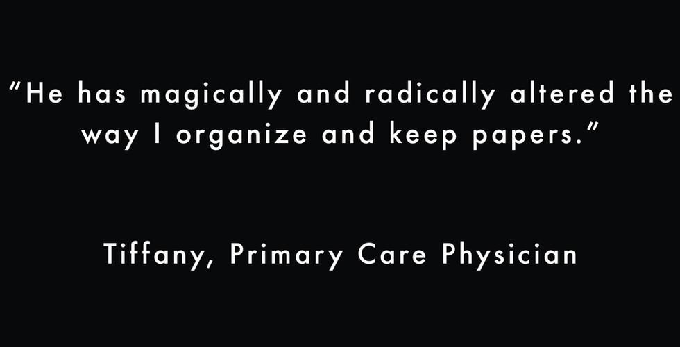 Tiffany Quote for Professional Organizer
