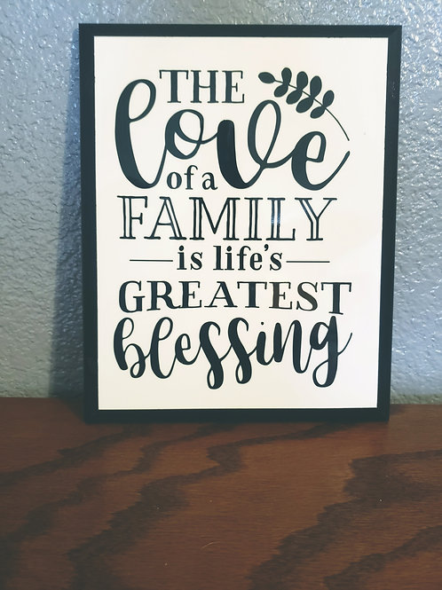 THE LOVE OF FAMILY | WALL DECOR