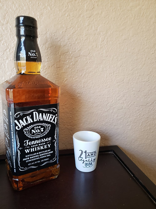 SHOT GLASS 21 AND LEGAL