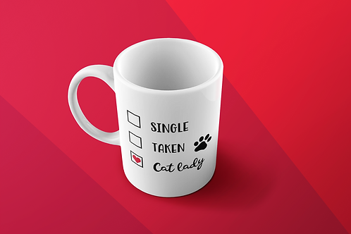CUSTOM COFFEE MUG-CAT LADY