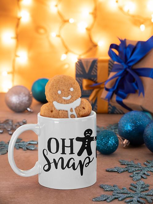 CHRISTMAS COFFEE MUG OH SNAP