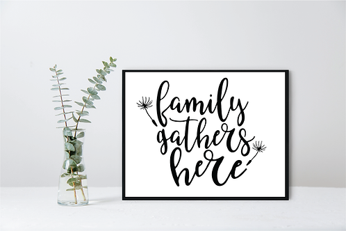 WALL DECOR-FAMILY GATHERS HERE