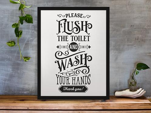 PLEASE FLUSH....| BATHROOM DECOR