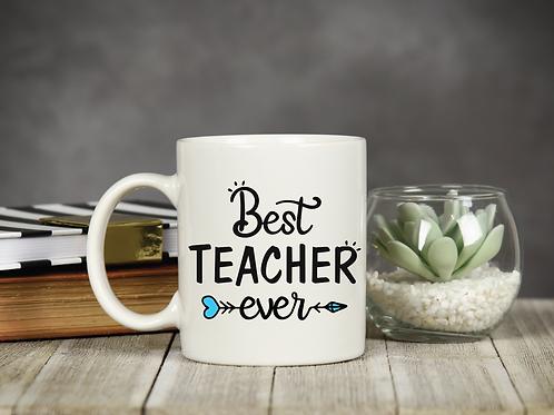 BEST TEACHER COFFEE MUG