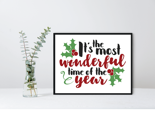 CHRISTMAS WALL DECOR- MOST WONDERFUL TIME