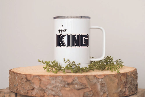 HER KING POLAR CAMEL COFFEE MUG