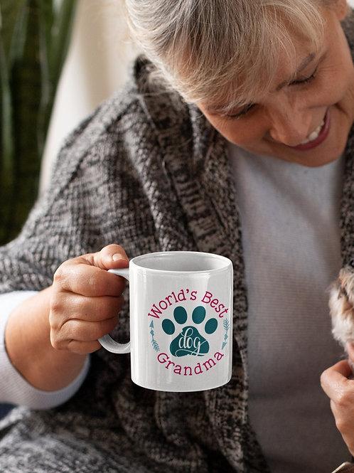 WORLD'S BEST DOG GRANDMA- COFFEE MUG