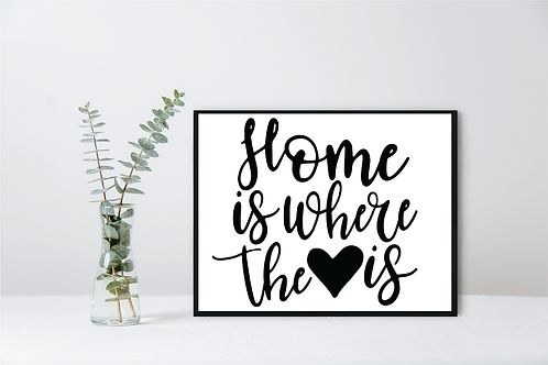 HOME IS WHERE THE HEART IS WALL DECOR