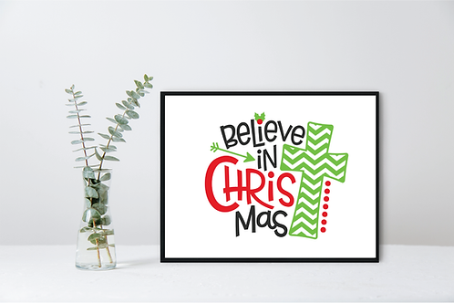 CHRISTMAS WALL DECOR-BELIEVE IN