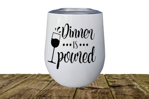 STAINLESS STEEL INSULATED WINE TUMBLER