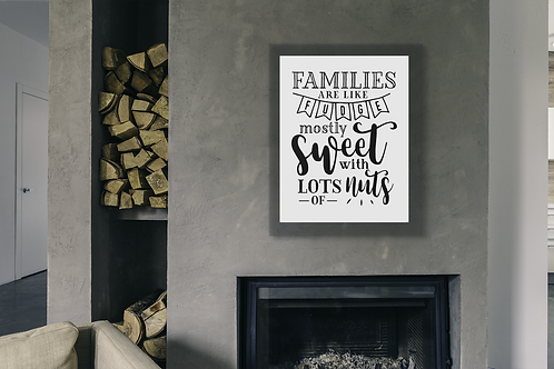 WALL DECOR- FAMILIES ARE LIKE