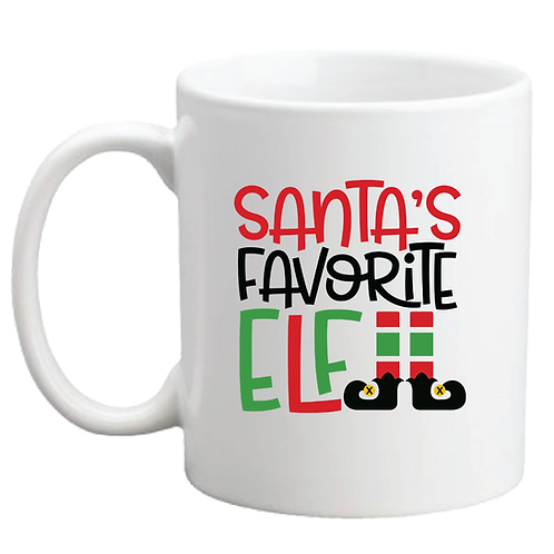 SANTAS FAVORITE ELF COFFEE MUG