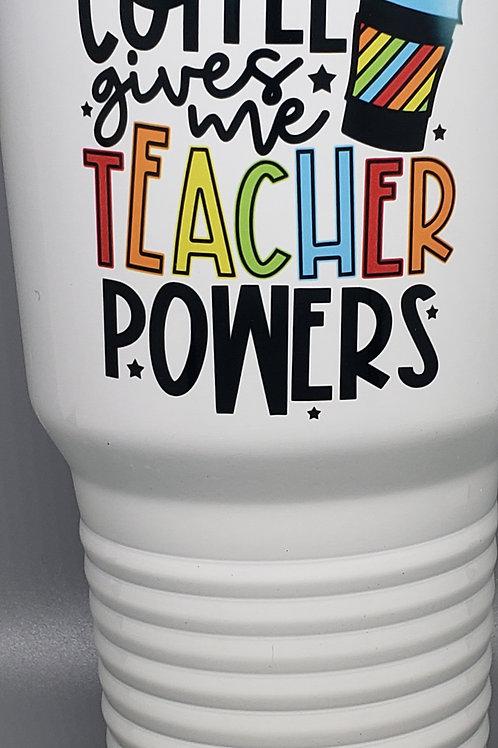 POLAR CAMEL TUMBLER-COFFEE GIVES ME TEACHER POWERS