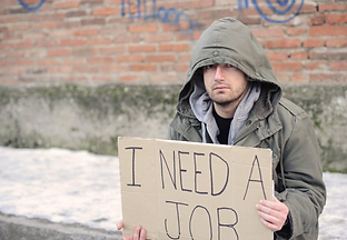Dislocated-Worker-With-A-Sign-Board-For-