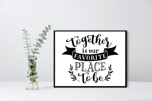 FAMILY ROOM WALL DECOR -TOGETHER