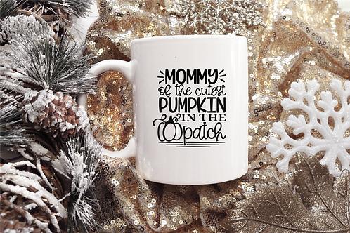 MOMMY OF THE CUTEST PUMPKIN COFFEE MUG