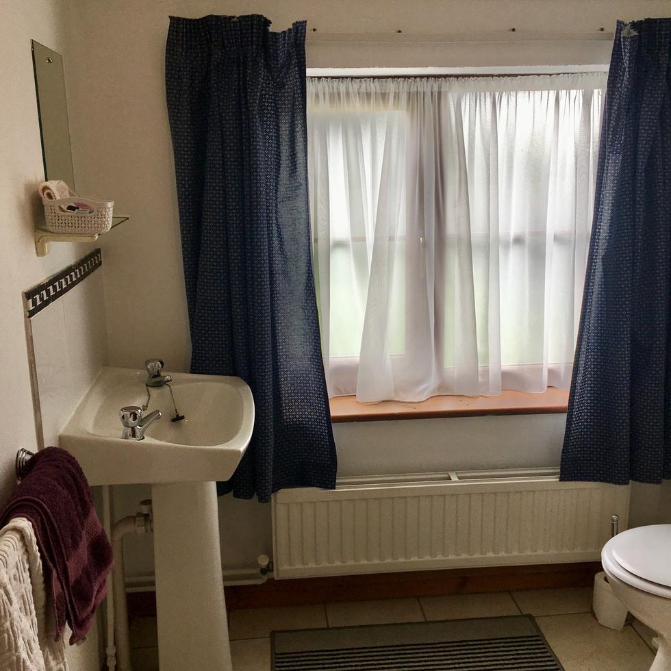 Upstairs single bathroom