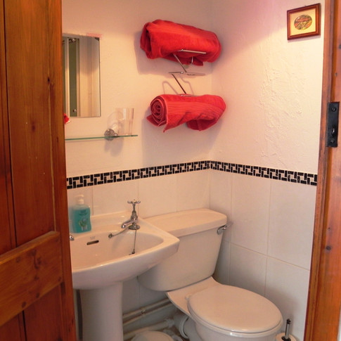 Bathroom with twin room