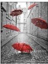 5 Red Umbrellas