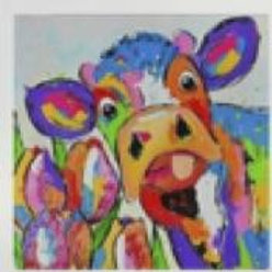 Cow With Tulips