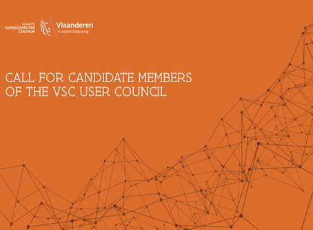 Call for candidate members for the User Council of the Flemish Supercomputer Center