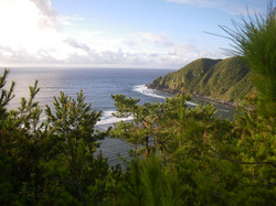 Hilafu surf point in Aha Okinawa