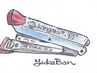 """YUKABON 5minutes drawing """"yukabon's correction Kangaro-10 Stapler"""""""