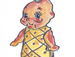 """YUKABON 5minutes drawing """"yukabon's correction Pineapple Kewpie"""""""