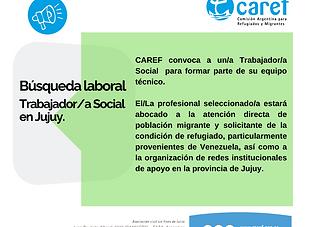 Búsqueda laboral de Trabajadora Social J