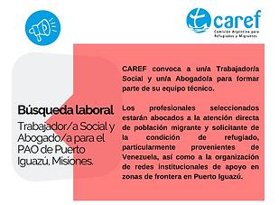 Búsqueda laboral de Trabajadora Social y