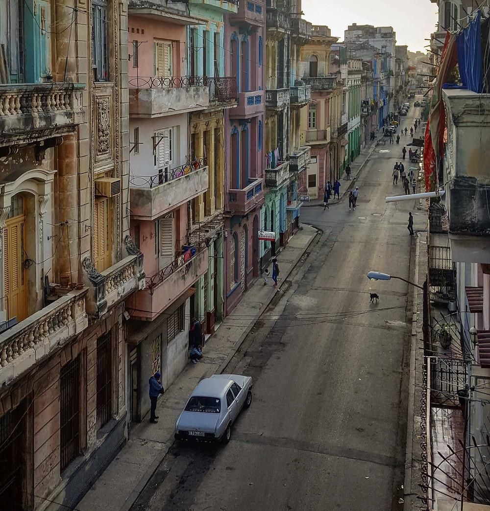 Colourful street in central Havana, Cuba