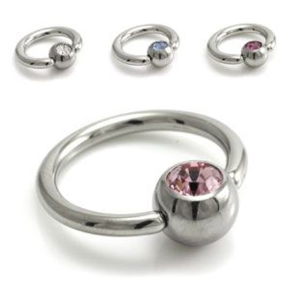 Steel BCR with Gem Ball 1.6mm