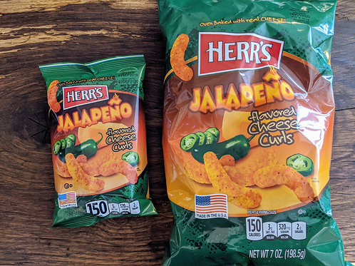 Herr's Jalapeno Cheese Curls (198.5g)