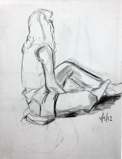 Gesture Study of Clothed Figure