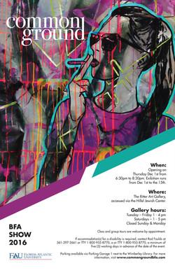 BFA Senior Seminar Show Poster