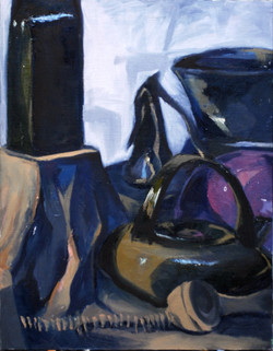 Black and Color Objects Painting