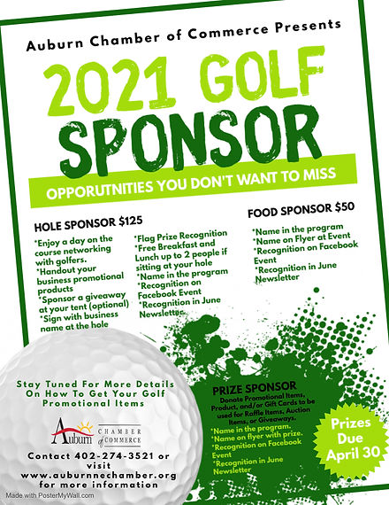 2021 Golf Sponsorships - Made with Poste