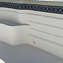 Fiberglass inground pool gelcoat application