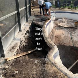Broken Fiberglass Pool In Georgia