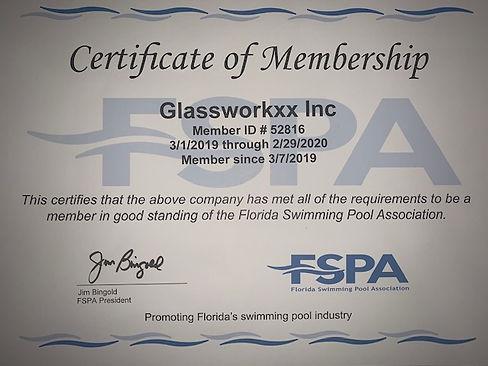 Florida Swimming Pool Association Cert