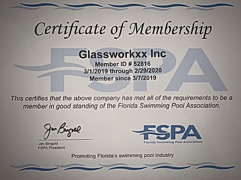 Florida Swimming Pool Association Cert