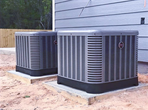Two RUUD AC units installed by Inshore Heating and Air