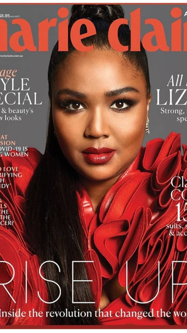 Lizzo Cover Marie Claire Mag wearing Delise'Ana